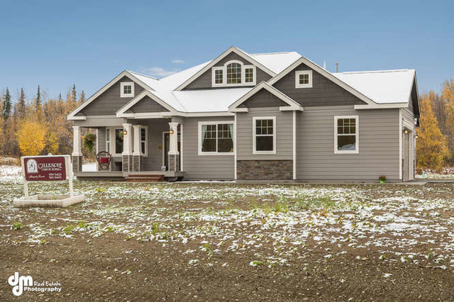 New Construction Of Ranch House Plan 3245 Craftsman Exterior