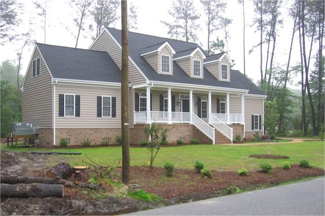 New Custom Home traditional-exterior
