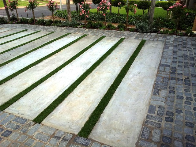 New Driveway Paving Contemporary Exterior Other By