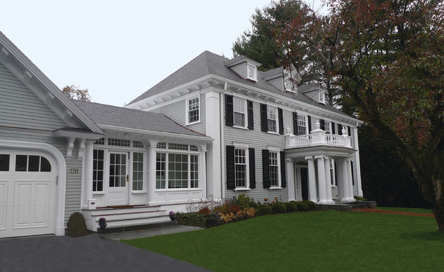 new england classical homes traditional exterior boston by meyer meyer inc