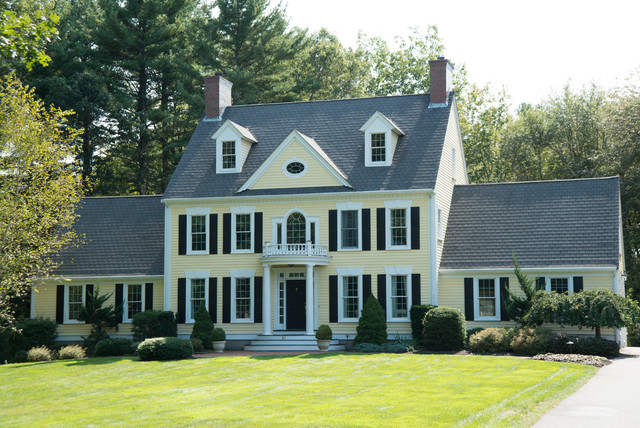 New england colonial traditional exterior boston New england architects