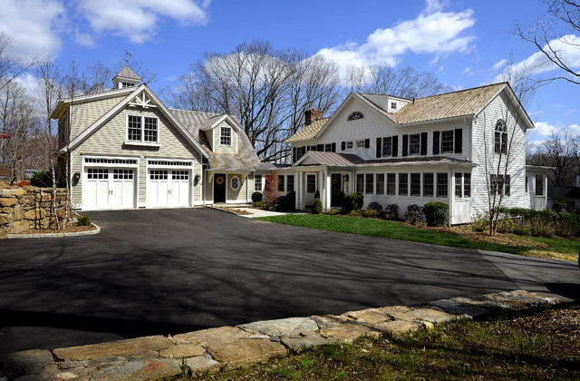 New england farm house exterior new york by legacy for New construction farmhouse