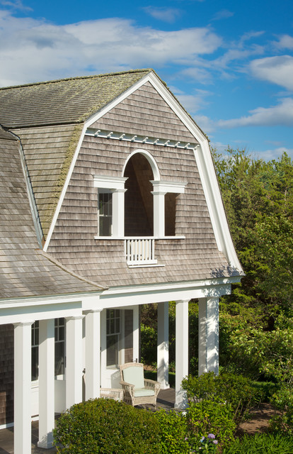 New England Shingle House Beach Style Exterior Other