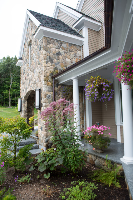 New England Style Design Fireplace Chimney Columns And