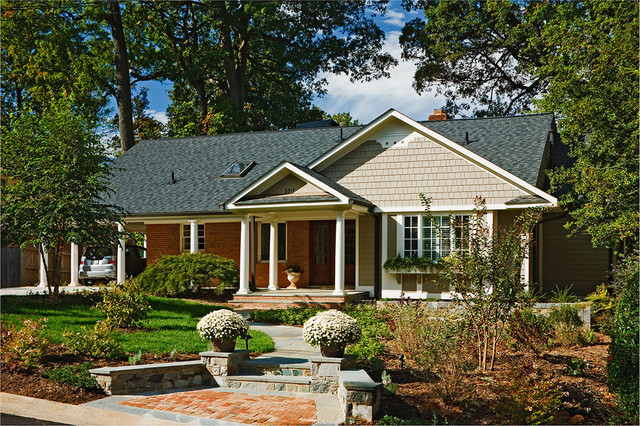 New Facade To Ranch Style Home Traditional Exterior