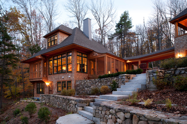New hampshire lake house traditional exterior boston for Lakehouse homes