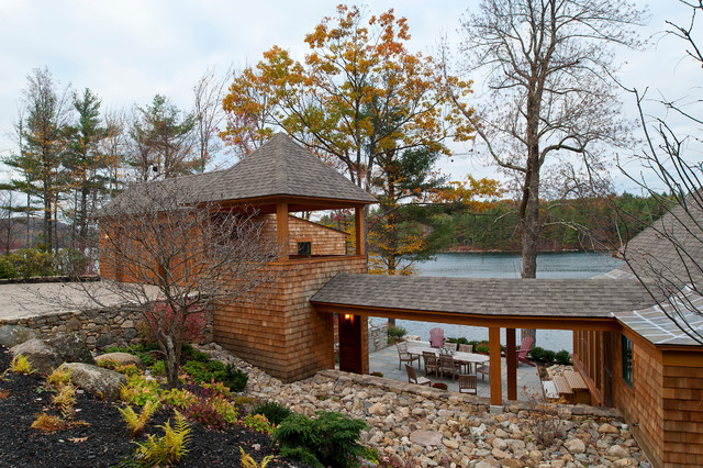 New Hampshire Lake House traditional-exterior