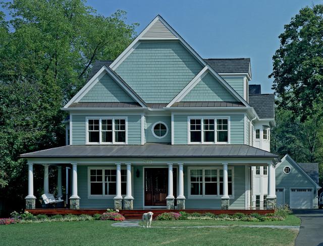 New home build in farmhouse style in kensington md for Farmhouse architecture design