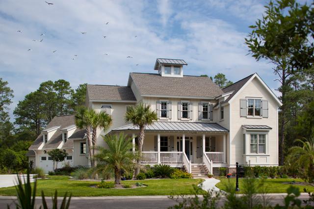 New Home - Colonial Exterior, Contemporary Interior traditional-exterior