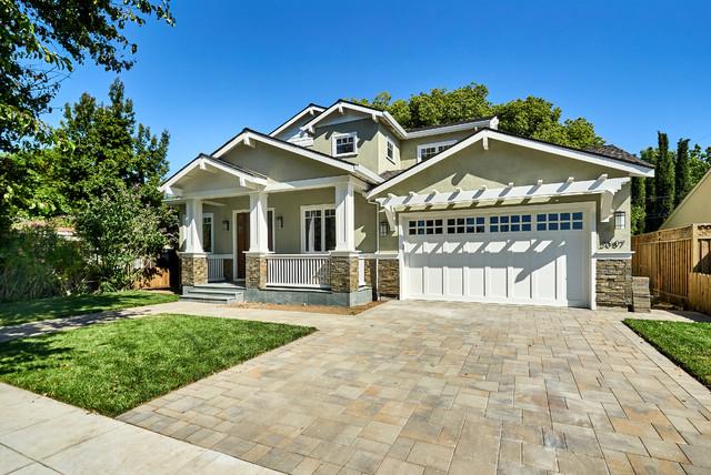 Transitional exterior home idea in San Francisco