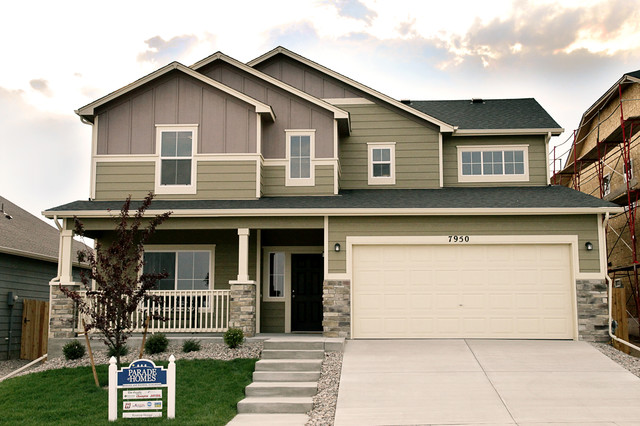 New homes in colorado springs traditional exterior for Modern homes colorado springs