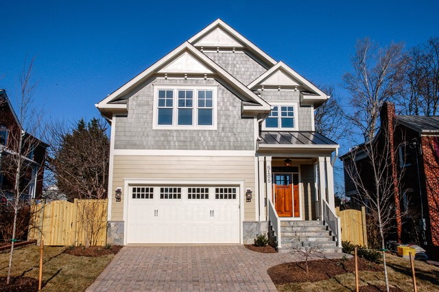 New homes in northern va transitional exterior dc for Modern homes northern virginia