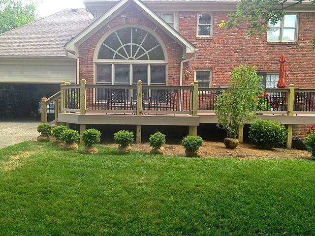 Images Of Landscaping Around Deck : New landscaping around deck traditional exterior louisville