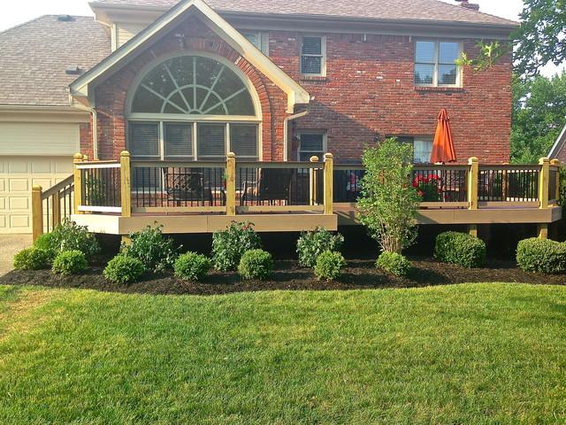 New Landscaping Around Decktraditional Exterior Louisville