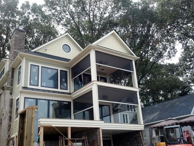 New Porches With Phantom Executive Motorized Screens