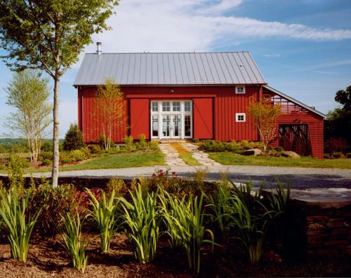 New River Bank Barn contemporary exterior