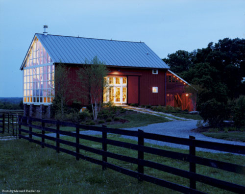 New River Bank Barn contemporary exterior
