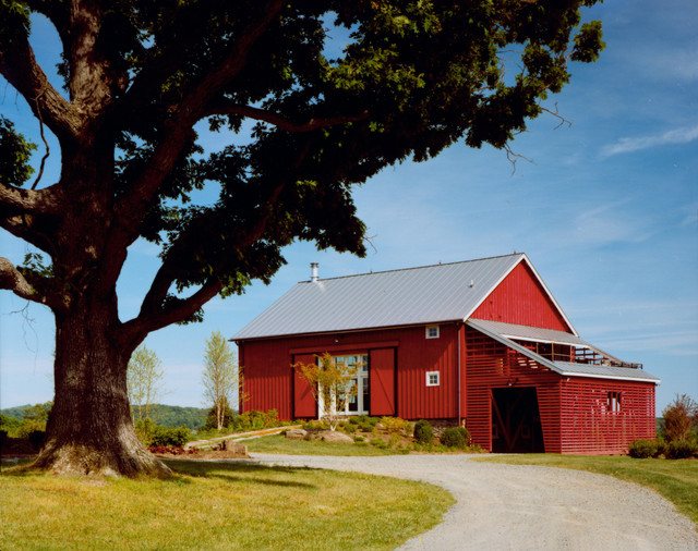 New River Bank Barn contemporary-exterior