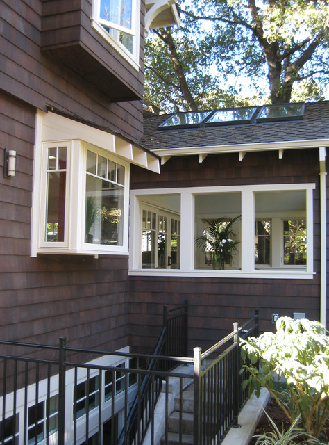 New Shingle Style Cottage with a full basement in Palo Alto traditional-exterior