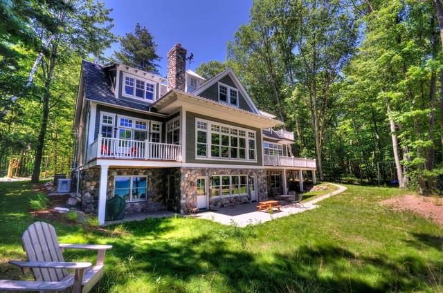 New Vintage Lake House beach-style-exterior