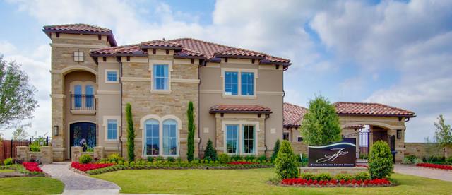 Newmark homes elevation villa rotunda mediterranean for Houston house elevation
