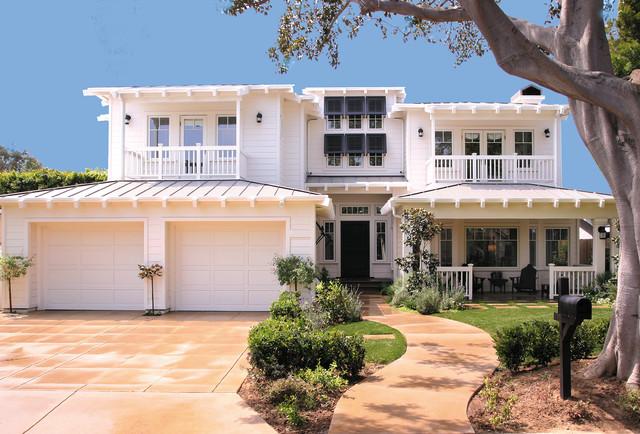 Newport Beach Plantation Style Tropical Exterior