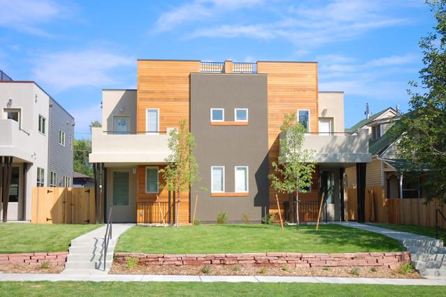 Newton Street Duplexes Contemporary Exterior Denver