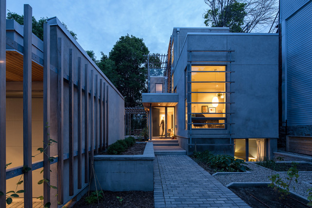 Night exterior contemporary exterior ottawa by for Exterior by design ottawa