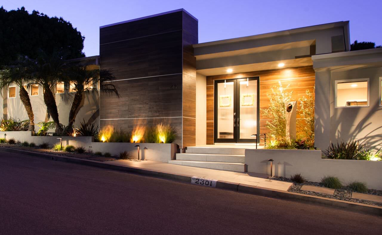 Night time exterior front