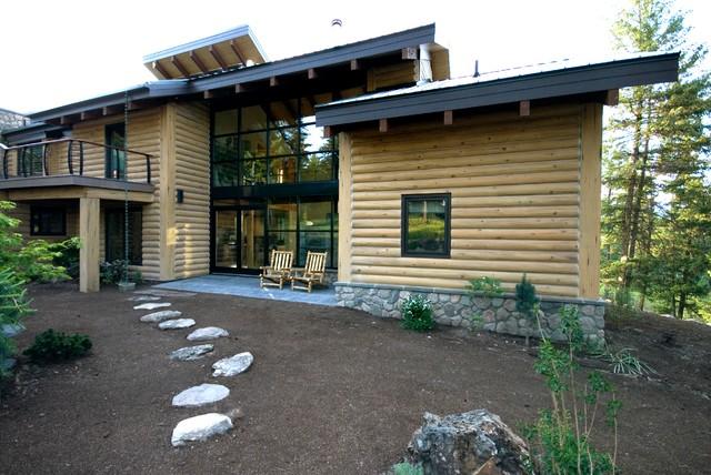 Nine Mile, Montana Residence contemporary-exterior