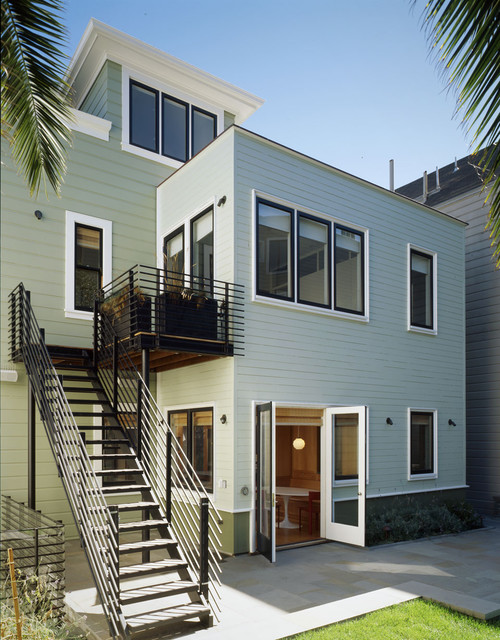 Noe valley historic home traditional exterior san for Modern house exterior window trim