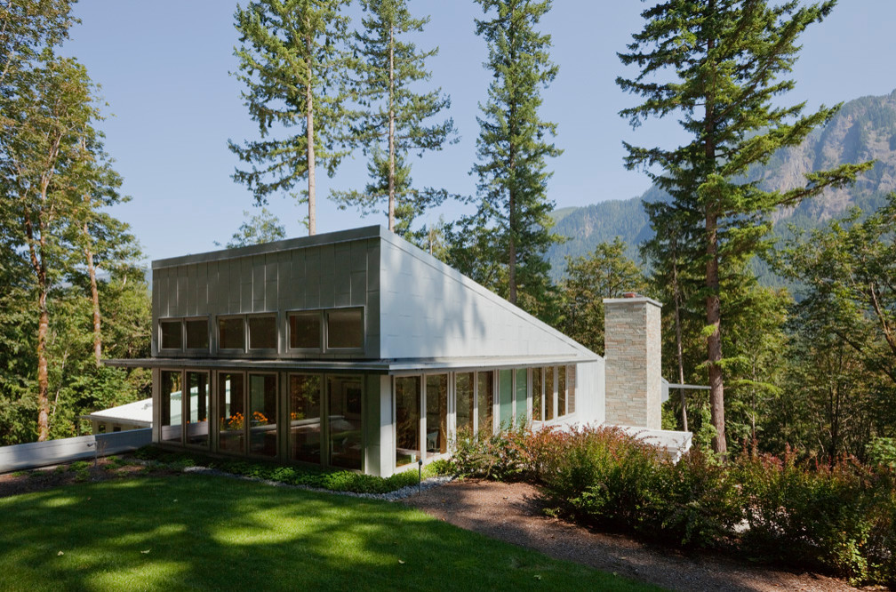 Sloped Roof Front Elevation Houzz