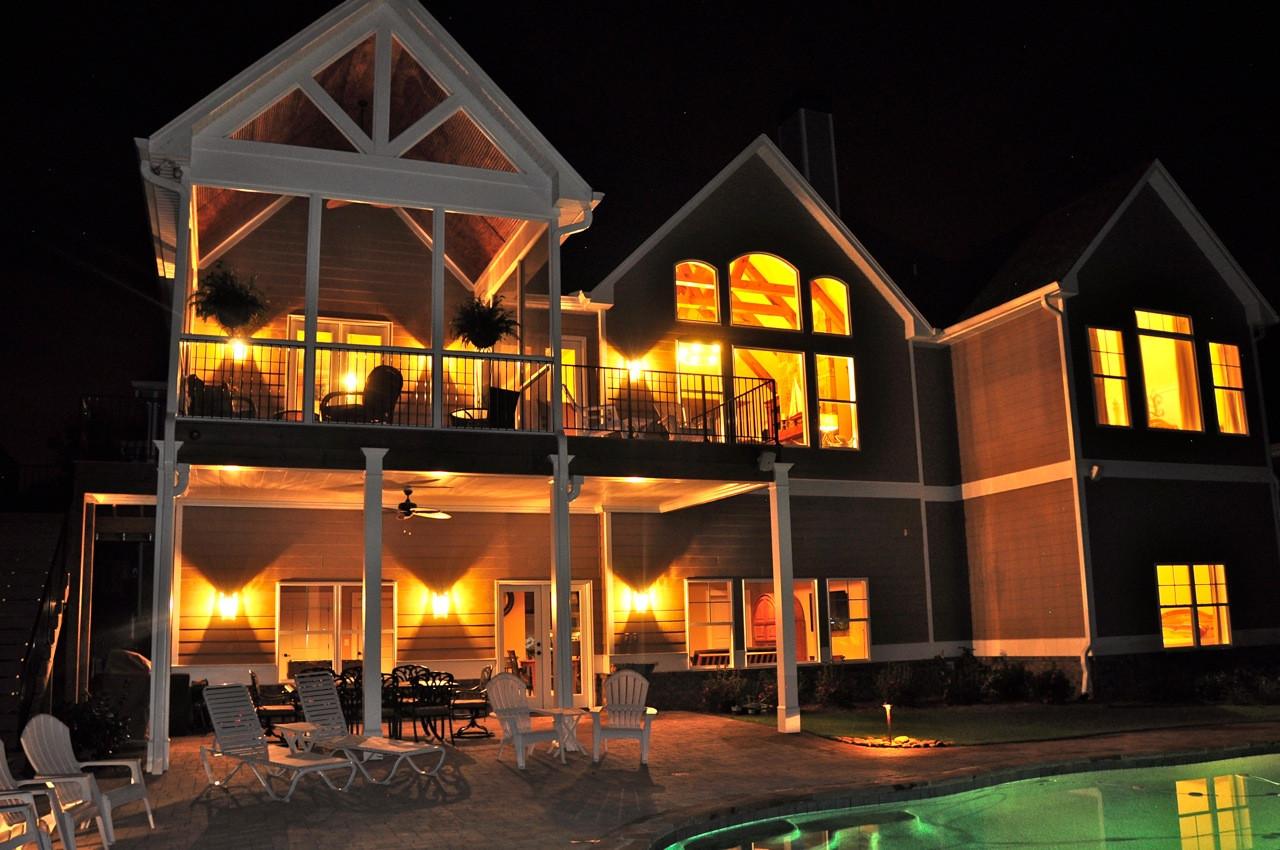 North Hall custom lake home