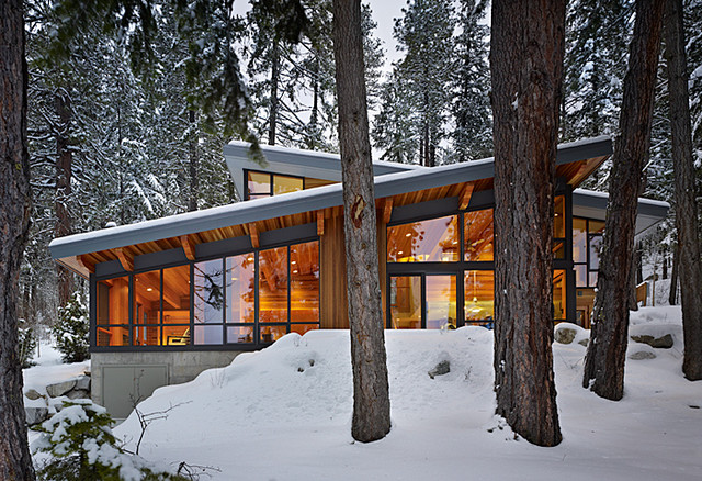 Contemporary Cabins In The Woods