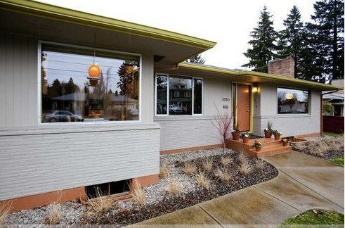 North portland mid century exterior for Mid century modern exterior paint colors