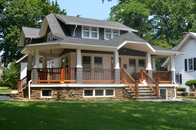 North shore long island craftsman porch new york for Craftsman porch