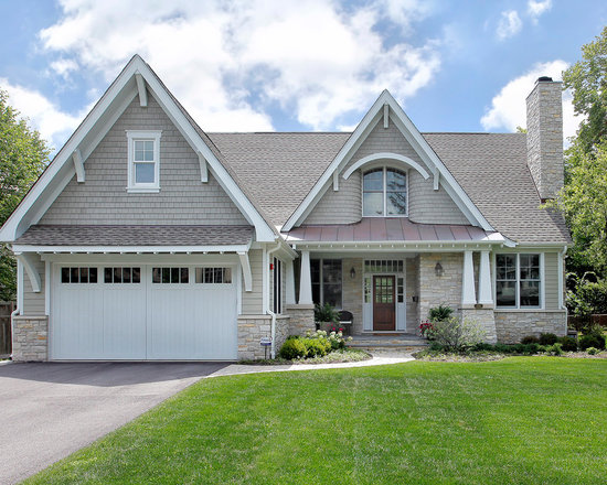 Stone around garage doors home design ideas pictures for Gable roof garage