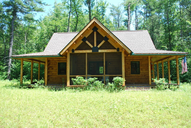 Northeastern Log Home traditional-exterior
