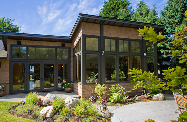 Northwest contemporary exterior for Pacific northwest house plans