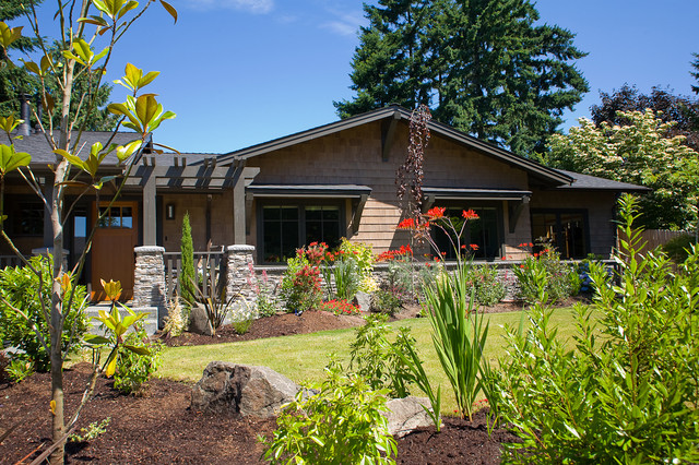 Northwest contemporary exterior for Craftsman landscape design ideas