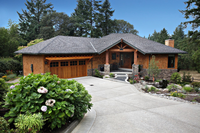 Northwest contempory exterior remodel craftsman for Craftsman landscape design ideas
