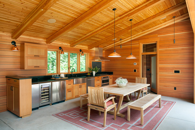 Northwest Retreat Ii Contemporary House Exterior Seattle By Deering Design Studio Inc Houzz Uk