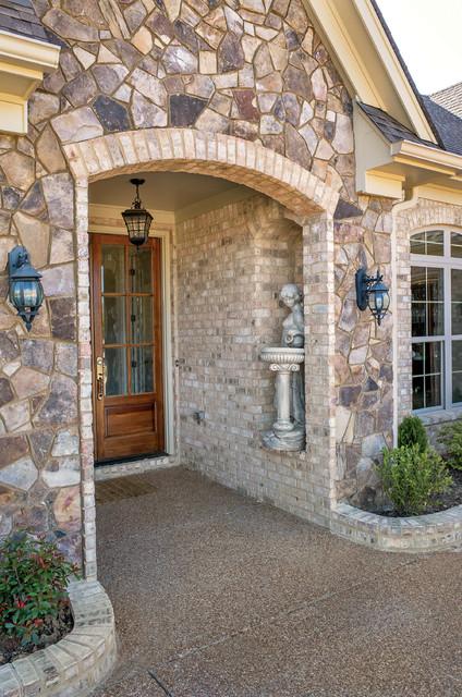 Nottingham Tudor Brick Amp Tennessee Fieldstone Rock Home Tennessee Craftsman Exterior