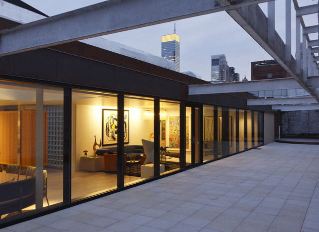 Nyc Rooftop Penthouse Industrial Exterior New York By Marc B Spector