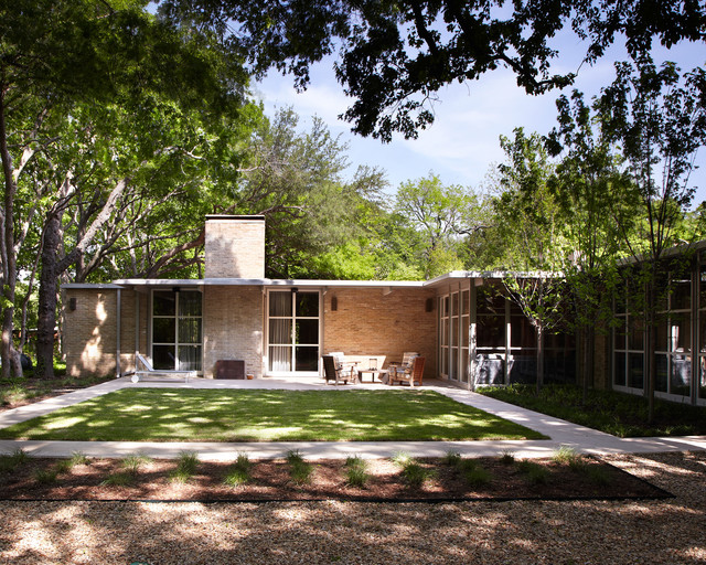 O 39 Neil Ford Exterior Midcentury Exterior Dallas By