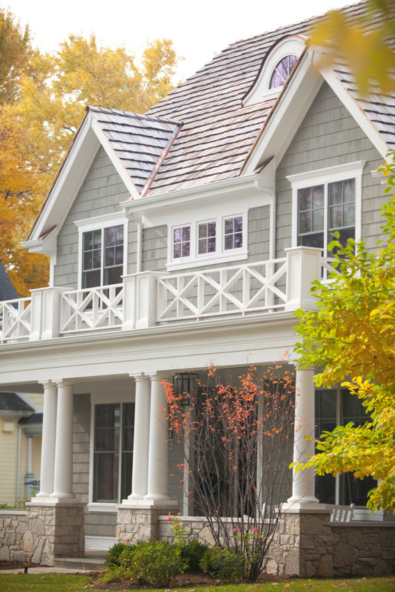 Inspiration for a timeless exterior home remodel in Chicago