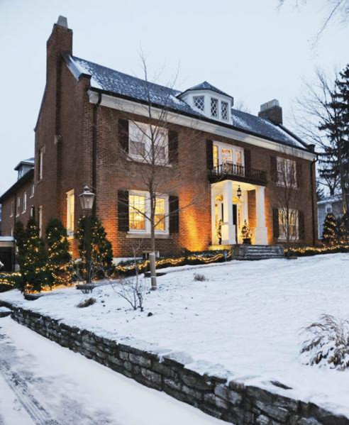 Oakwood Home Decked Out For The Holidays traditional-exterior