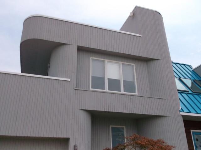 Ocean City Remodel w/ custom fence modern-exterior