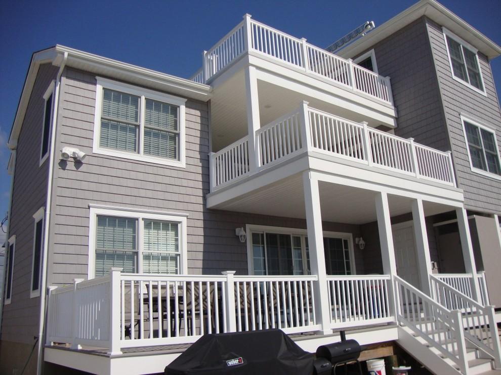 Ocean County Nj Custom Buit Homes Beach Style Exterior New York By Aqua Marine Green