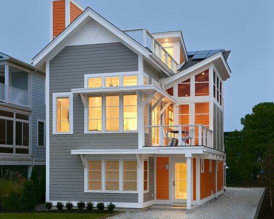 beach style exterior color scheme home design photos decor ideas